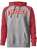 University of Nebraska - Lincoln Tri-Blend Color Block Hooded Sweatshirt