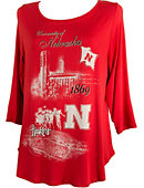 University of Nebraska - Lincoln Women's 3/4 Sleeve Campus T-Shirt