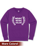 Mount Holyoke College Women's Fleece V-Neck Fleece Sweater