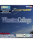 Wheaton College Decal Hologram Stand