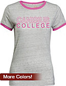 Canisius College Women's Athletic Fit Ringer Short Sleeve T-Shirt