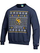 Canisius College Griffins Ugly Christmas Sweater Powerblend Crewneck Sweatshirt