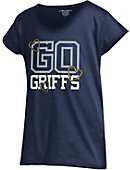 Canisius College Girls' V-Neck Powder Puff T-Shirt