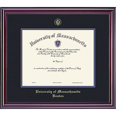 Product: University of Massachusetts-Boston 8.5'' x 11'' Prestige Diploma Frame