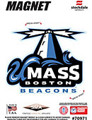 University of Massachusetts-Boston Beacons 4' x 4' Magnet