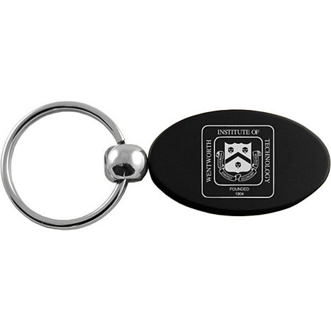 Product: Wentworth Institute of Technology Black Oval Keytag