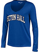Seton Hall University Pirates Women's Long Sleeve V-Neck T-Shirt