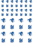 Seton Hall University Pirates 50-Count Stickers 2-Sheet