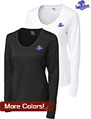 Cutter & Buck Seton Hall Women's DryTec Long Sleeve Mogul V-Neck - ONLINE ONLY