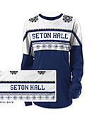 Seton Hall University Women's Long Sleeve Ugly Sweater Ra Ra Shirt