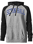 Seton Hall University Tri-Blend Color Block Hooded Sweatshirt