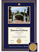 UC Berkeley Grad Windsor Diploma and Photo Frame with Medallion
