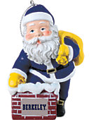 University of California Berkeley 3 in. Rooftop Santa Ornament