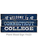 Connecticut College 22''x11'' Welcome Wood Sign