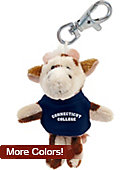 Connecticut College Plush Keychain