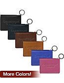Connecticut College Camels Leather ID Holder