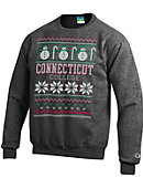 Connecticut College Ugly Sweater Crewneck Sweatshirt