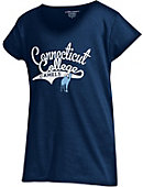 Connecticut College Camels Girls' V-Neck Powder Puff T-Shirt