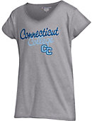 Connecticut College Girls' V-Neck Short Sleeve T-Shirt