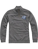 Connecticut College Camels Tri-Blend 1/4 Zip Fleece Pullover