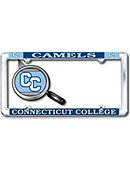Connecticut College Camel Thin Dome License Plate Frame