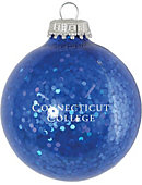 Connecticut College Sparkle Ornament Ball
