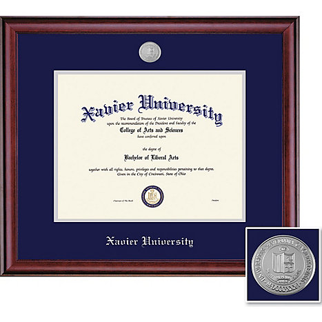 Product: Xavier University 8.5'' x 11'' Classic Diploma Frame