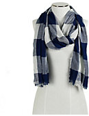 Xavier University Plaid Scarf