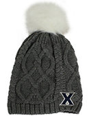 Xavier University Women's Fur Pom Beanie