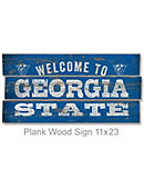 Georgia State University 22''x11'' Welcome Wood Sign