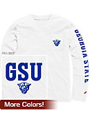 Georgia State University Panthers Vintage Washed Long Sleeve Pocket T-Shirt