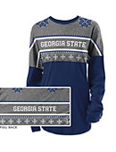 Georgia State University Women's Long Sleeve Ugly Sweater Ra Ra Shirt