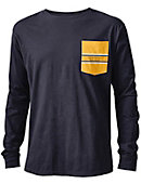 Quinnipiac University Vintage Washed Long Sleeve Pocket T-Shirt