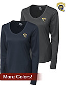 Cutter & Buck Quinnipiac University Women's DryTec Long Sleeve Mogul V-Neck - ONLINE ONLY