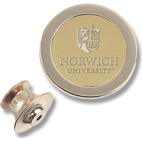 Product: Norwich University 23K Gold Plate Lapel Pin