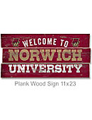 Norwich University 22''x11'' Welcome Wood Sign
