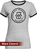 Norwich University Women's Athletic Fit Ringer Short Sleeve T-Shirt