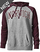 Norwich University Tri-Blend Color Block Hooded Sweatshirt