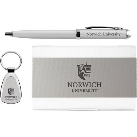 Product: Norwich University Pen, Keychain, and Cardholder Set