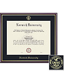 Norwich University 11'' x 14'' Value Price Scholastic Diploma Frame