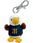 John Brown University Plush Keychain