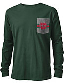 Washington University Vintage Washed Long Sleeve Pocket T-Shirt