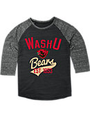 Washington University Bears Women's 3/4 Sleeve T-Shirt