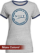 New Jersey Institute of Technology Women's Athletic Fit Ringer Short Sleeve T-Shirt
