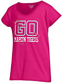 Morehouse College Girls' V-Neck Powder Puff T-Shirt