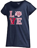 Morehouse College Maroon Tigers Girls' Powder Puff Love T-Shirt