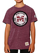 Morehouse College Maroon Tigers Youth Boy's Tri-Blend Short Sleeve T-Shirt