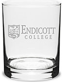 Endicott College 14 Oz. Glass
