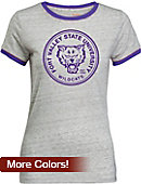 Fort Valley State University Women's Athletic Fit Ringer Short Sleeve T-Shirt