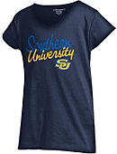 Southern University and A&M College Girls' V-Neck Short Sleeve T-Shirt